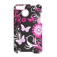 Butterfly Pattern Hard Back Cover Case for iPod Touch 2 / Touch 3