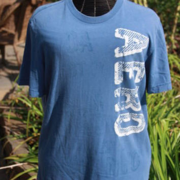 Men's Graphic Tee T-Shirt Aeropostale Areo Blue Size XL