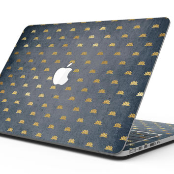 Navy Gold Foil v12 - MacBook Pro with Retina Display Full-Coverage Skin Kit