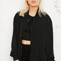 Vintage O&O Sheer Bomber Jacket - Urban Outfitters