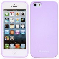 Phoneadd - Alice Pastel Soft Slim Fit Jelly Case for Iphone 5 5S (Purple)