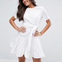 ASOS Tiered Cotton Mini Dress at asos.com