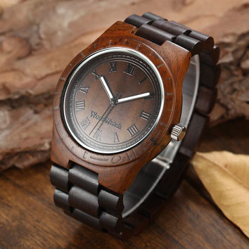 2016 New Fashion Men Wooden Quartz Watch Roman Vintage Luxury Wood Wrist Watch |*Super Cheap*|*only 80 pcs available*|