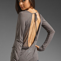 Blue Life Deep V Back Top in Grey from REVOLVEclothing.com