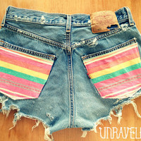 High Waisted Shorts Navajo Pockets Size by UnraveledClothing