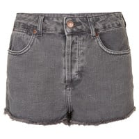 MOTO Grey High Waist Hotpants - Shorts - Clothing - Topshop USA