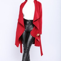 Manhattan Coat - Burgundy