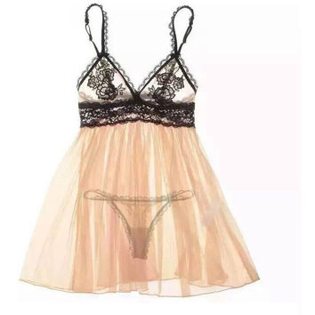 On Sale Hot Deal Cute Sexy Lingerie Lace Transparent Hollow Out Gowns Set Exotic Lingerie [9779882883]