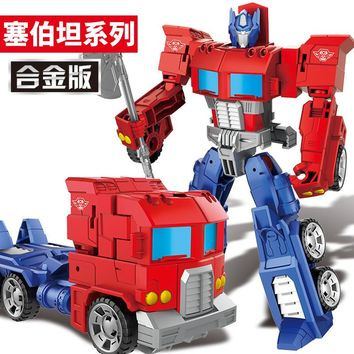 19CM Alloy Version Movie Characters Model Toys Figures Car Robots Action Deformable Toys Boy Birthday Gifts