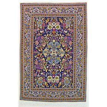 Oriental Qum Persian Classic Wool Rug, Blue/Green