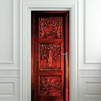 "Amazon.com: Door STICKER Narnia Wardrobe mural decole film self-adhesive poster 30x79""(77x200 cm): Home & Kitchen"