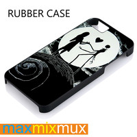 Love The Nightmare Before Christmas  Jack And Sally iPhone 4/4S, 5/5S, 5C, 6/6 Plus Series Rubber Case