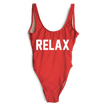 RELAX Red One Piece Bathing Suit
