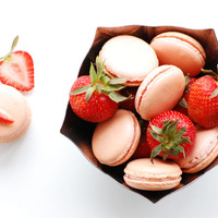 One dozen Strawberry Buttercream Macaron