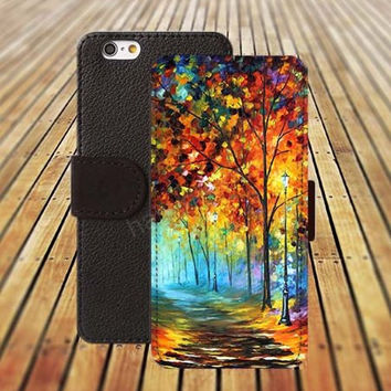 iphone 5 5s case watercolor tree phone dream colorful iphone 4/4s iPhone 6 6 Plus iphone 5C Wallet Case,iPhone 5 Case,Cover,Cases colorful pattern L452