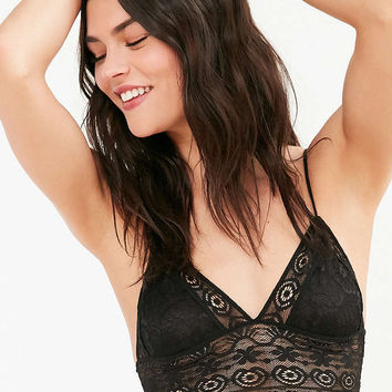 Out From Under Kendall Delicate Lace Longline Bra - Urban Outfitters