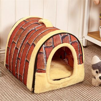 Fine joy New Arrival Dog Cat Pet Bed House Pet Dog Cat Mats Soft Sofa  Lovely Pets Products Animal Home Large Size