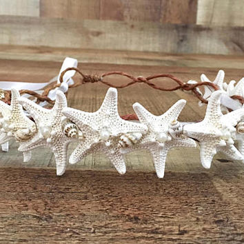 Beach Wedding Starfish Head Wreath Hair Accessories Mermaid Headband Crown