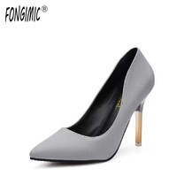 Fongimic Women Pumps High Heels Slip-on Female Classic Shoes Thin Heels Pointed Toe Pumps Fashion Elegant Women Office Pumps