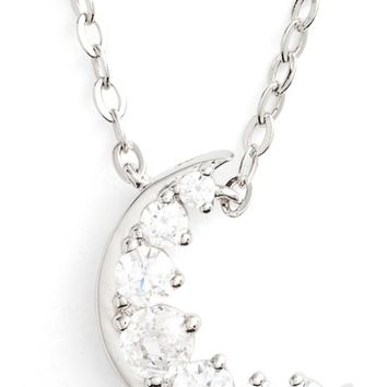 Nadri Reminisce Moon Pendant Necklace | Nordstrom