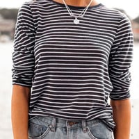 Monochrome Striped Long Sleeve T-shirt