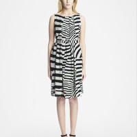 MARIMEKKO RAFA DRESS BEIGE/BLACK