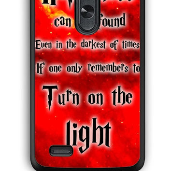 LG G3 Case - Hard (PC) Cover with Harry Potter Quotes Happiness Can be Found Even in The Darkest of Times If One Remembers Plastic Case Design