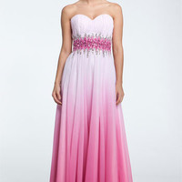 Sean Collection Beaded Waist Strapless Ball Gown   Nordstrom