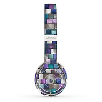 The Mosaic Purple and Green Vivid Tiles V4 Skin Set for the Beats by Dre Solo 2 Wireless Headphones
