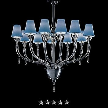 Blues Shade Murano Chandelier