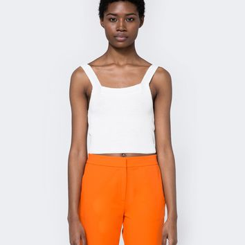 Achro / Bow Crop Top in White