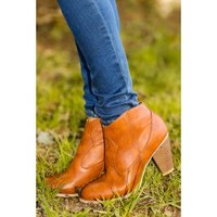 Ride Along Booties-Cognac