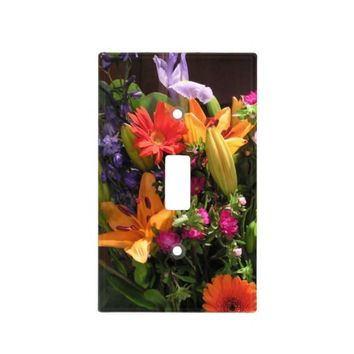 Colorful Bouquet of Flowers Switchplate Light Switch Cover