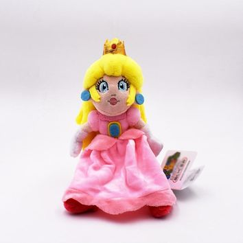 Super Mario party nes switch  Bros Pink Princess Peach Plush Doll Stuffed Kids Toys 8inch 20cm   AT_80_8