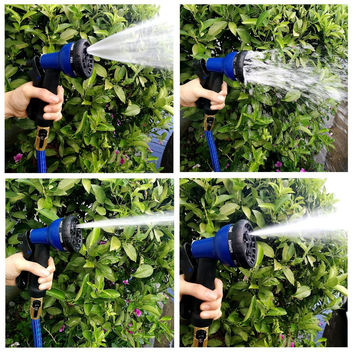 25, 50,75, or 100 Feet Expandable Garden Hose 8-pattern Sprayer Nozzle