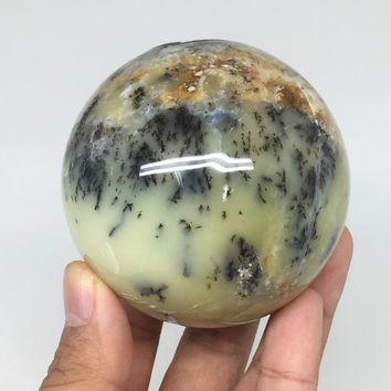 "379.6g, 2.8"" (70mm) Agate Fern Sphere Gemstone, Healing Crystal @Madagascar,B03"