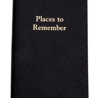 Leathersmith Leather Bound 'places To Remember; Notebook -  - Farfetch.com