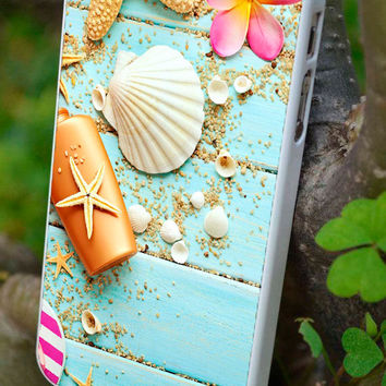 cover,case fits iPhone & iPod  models, sea, pier, vacation, shells, sand