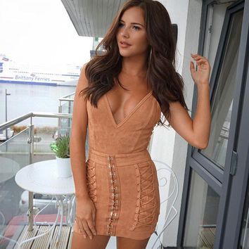 Suede Night Out Dress
