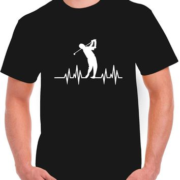 Golf Shirt, Golfing Shirt, Golf Heartbeat, Birthday Gift, Our T Shirt Shack
