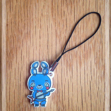 Five Nights at Freddy's Chibi Toy Bonnie Cell Phone/3DS Charm