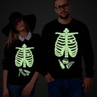 Halloween sweatshirt, Glow in the dark Halloween maternity sweatshirt, skeleton baby sweatshirt, skeleton candy sweatshirt, UNISEX