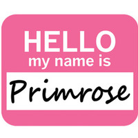 Primrose Hello My Name Is Mouse Pad