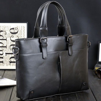 hight quality casual business leather bag