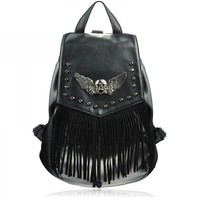 Skull Head and Wings Backpack — FashionForever