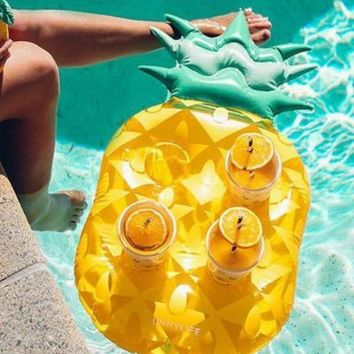 Inflatable Pineapple Floating Drinks Holder