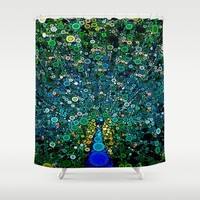 :: Peacock Caper :: Shower Curtain by :: GaleStorm Artworks ::