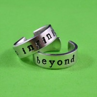 to infinity and beyond - Hand Stamped, Couples, Best Friends