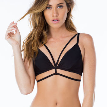 Cage Of Consent Strappy Bra Top