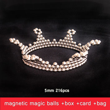 5mm 216pcs Metaballs Magnetic Balls Magnet Neo Cube Magic Toys Magnet Puzzle Spheres Xmas Christmas Gift with Metal Box +Card